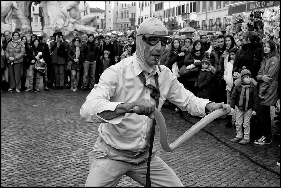 clown in piazza (Roma, 2013)