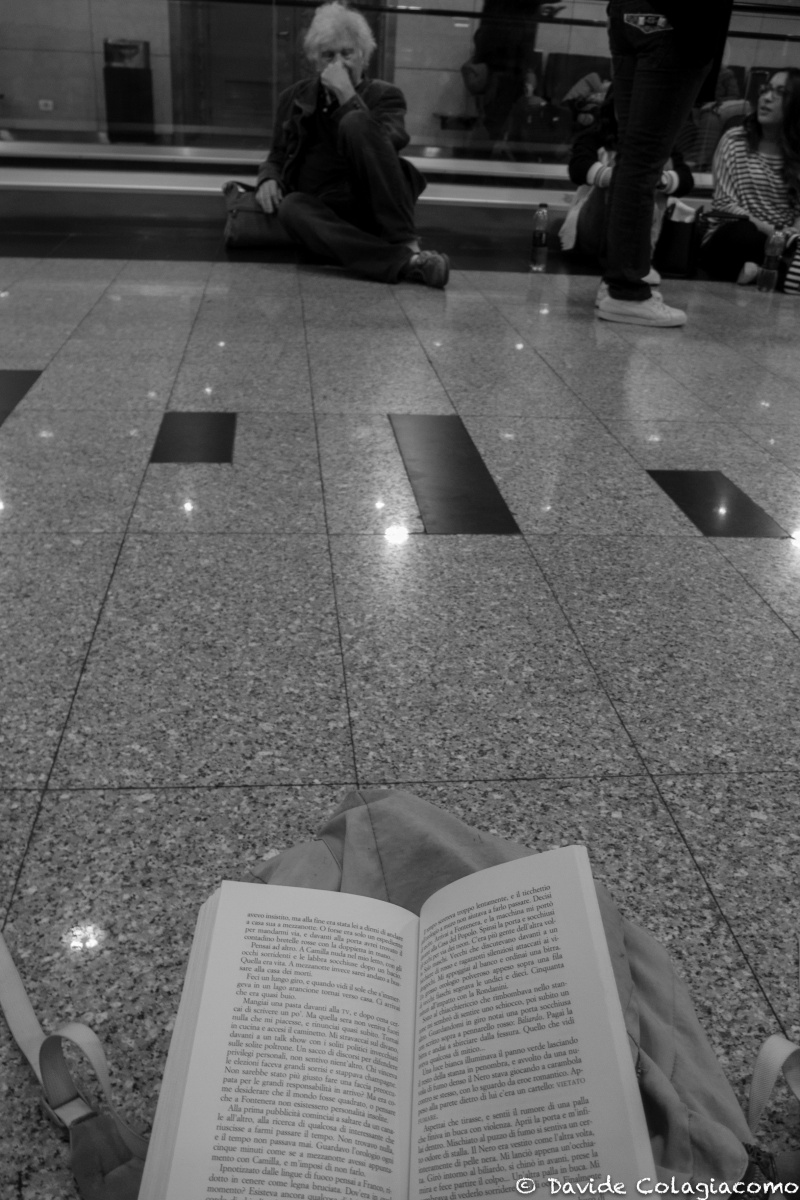 Waiting for connection flight