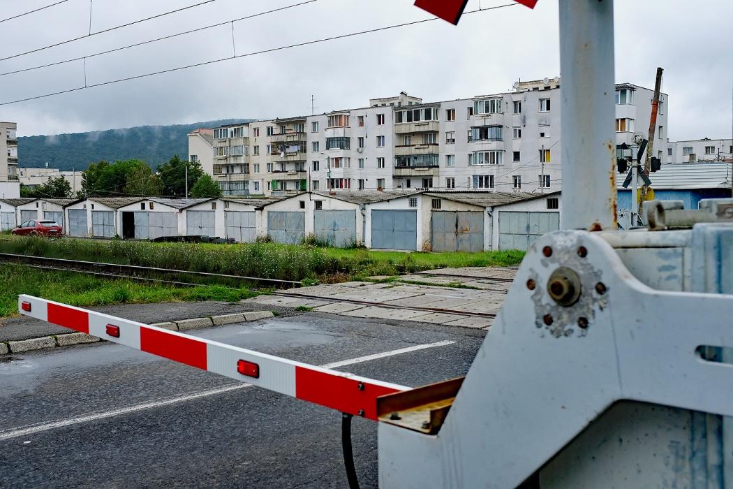 Retaggio del comunismo nell'edilizia rumena: Sighisoara (2019)